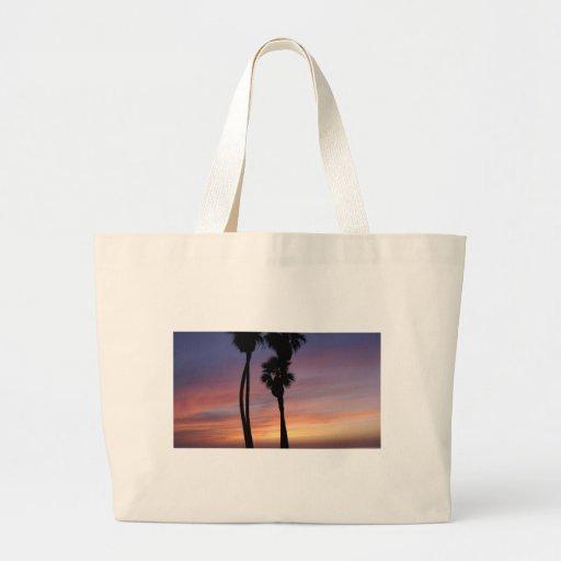 puesta del sol 3 bolsa tela grande