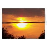 Puesta del sol 3 de Lincolnshire Tarjetón