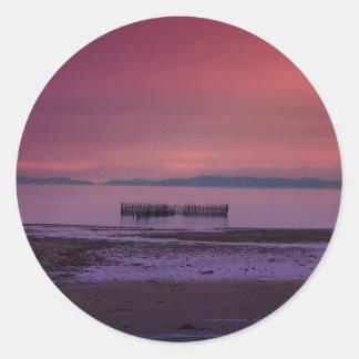 Puesta del sol 3 de Maine Pegatinas Redondas