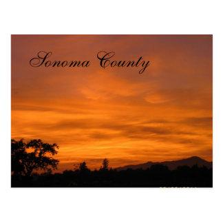 Puesta del sol 3 de Sonoma Postales
