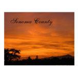 Puesta del sol 3 de Sonoma Tarjetas Postales