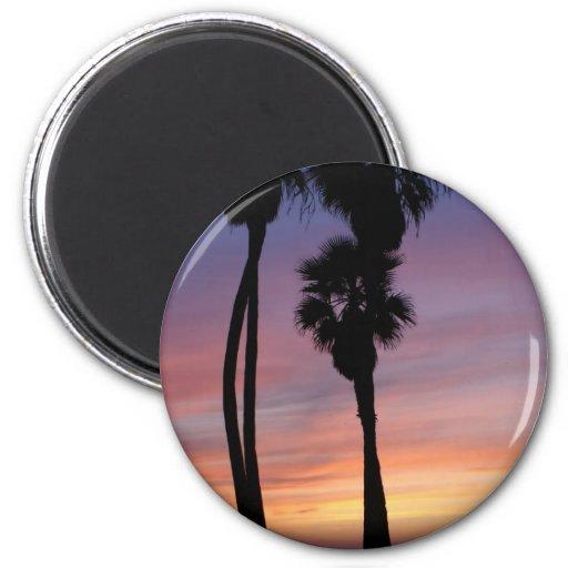 puesta del sol 3 imán redondo 5 cm