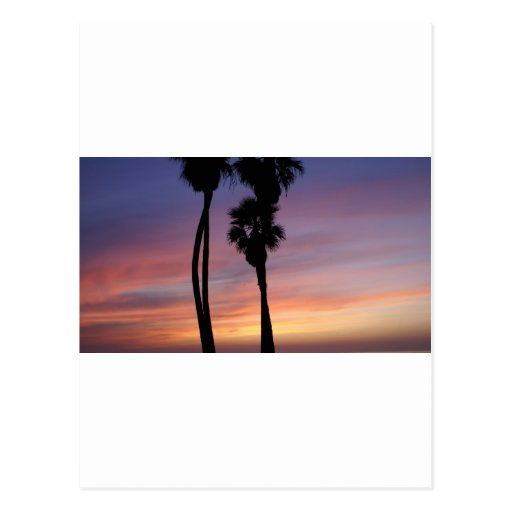 puesta del sol 3 postal
