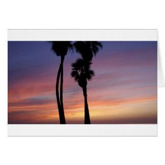 puesta del sol 3 tarjeta de felicitación