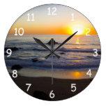 Puesta del sol 4 de San Simeon Reloj De Pared