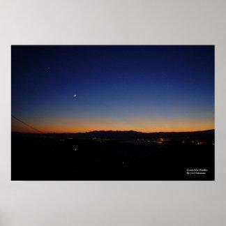 Puesta del sol 56b de Arizona [para el brezo] Póster