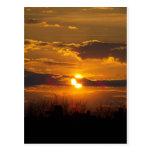 Puesta del sol 5 postal