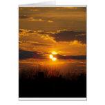 Puesta del sol 5 tarjeta
