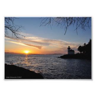 puesta del sol 5X7 en el parque de estado de la Cojinete