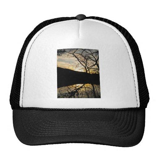 puesta del sol 6 gorras de camionero