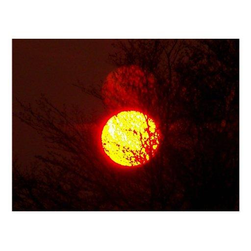 Puesta del sol 6 tarjetas postales
