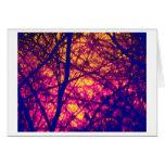 Puesta del sol a través de la tarjeta Notecard de