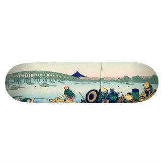 Puesta del sol a través del puente de Ryōgoku Tabla De Skate