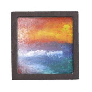 Puesta del sol abstracta de la playa caja de regalo de calidad