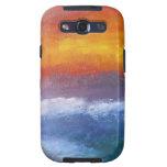 Puesta del sol abstracta de la playa galaxy s3 carcasas