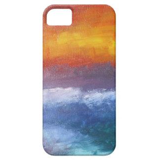 Puesta del sol abstracta de la playa iPhone 5 fundas