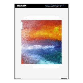 Puesta del sol abstracta de la playa pegatina skin para iPad 3