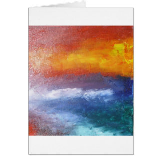 Puesta del sol abstracta de la playa tarjeta de felicitación