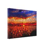 Puesta del sol abstracta impresión en lona