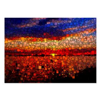 Puesta del sol abstracta tarjetas de visita grandes