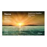 Puesta del sol adriática tarjetas de visita