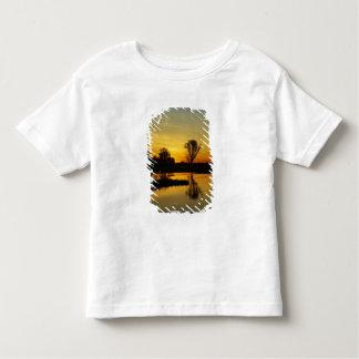 Puesta del sol, agua amarilla Billabong 3 Playera De Bebé