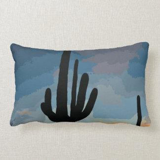 Puesta del sol al sudoeste del cactus del Saguaro  Cojines