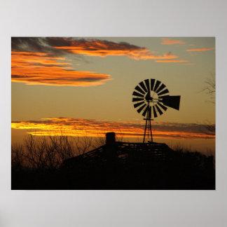 puesta del sol al sudoeste poster