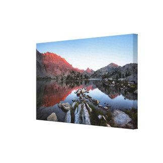 Puesta del sol Alpenglow del lago evolution - Impresiones De Lienzo