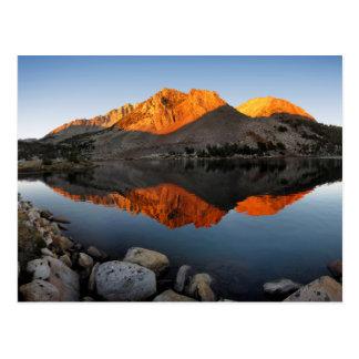 Puesta del sol Alpenglow del lago virginia - Tarjetas Postales
