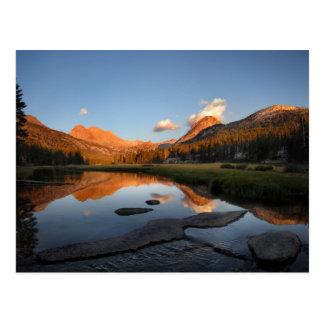 Puesta del sol Alpenglow del prado de McClure - Tarjetas Postales
