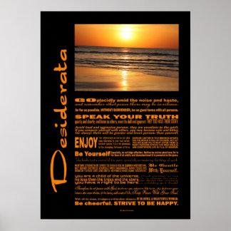 Puesta del sol amarilla hermosa del poema de los posters