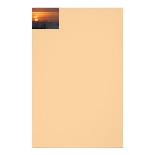 Puesta del sol anaranjada la Florida Papeleria