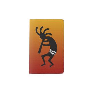 Puesta del sol anaranjada que baila diseño del funda para libreta y libreta pequeña moleskine
