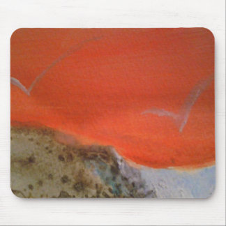 Puesta del sol anaranjada tapete de ratón