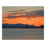Puesta del sol anaranjada vibrante de Alaska Fotos