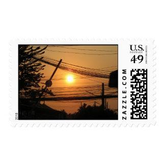 Puesta del sol atada con alambre… Krung Thep, Sellos Postales