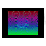 Puesta del sol azul #1 (tarjeta) del pixel
