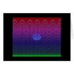 Puesta del sol azul #7 (tarjeta) del pixel