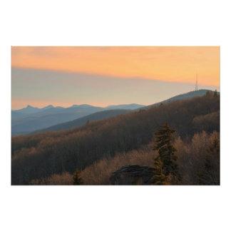 Puesta del sol azul de Ridge Cojinete