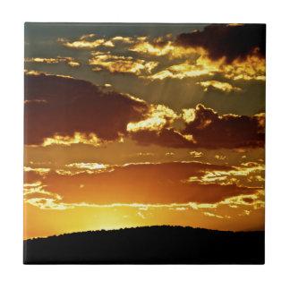 puesta del sol azulejo cerámica