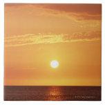 Puesta del sol azulejo cuadrado grande