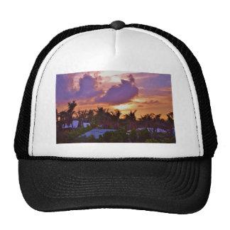 Puesta del sol bahamesa gorras