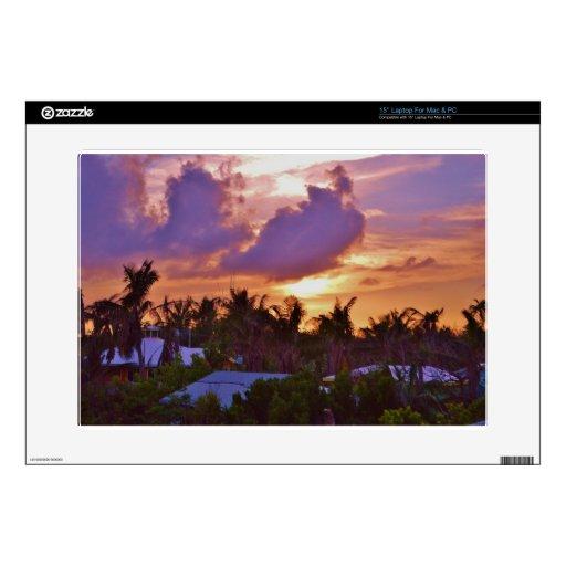 Puesta del sol bahamesa portátil 38,1cm skins