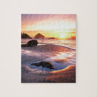 Puesta del sol Bandon Oregon Puzzle Con Fotos