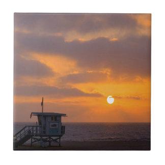 Puesta del sol Baywatch Azulejo Cerámica