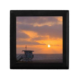Puesta del sol Baywatch Cajas De Joyas