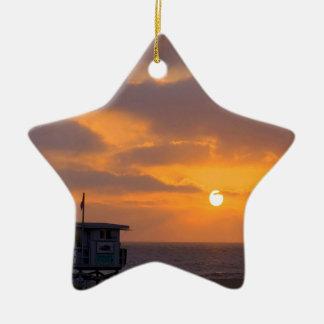 Puesta del sol Baywatch Ornamento Para Arbol De Navidad