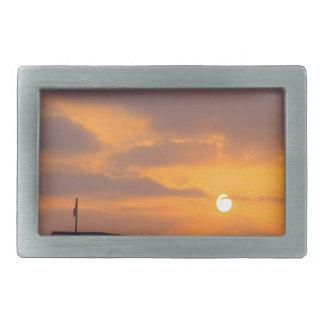 Puesta del sol Baywatch Hebilla De Cinturón Rectangular