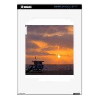 Puesta del sol Baywatch iPad 3 Pegatinas Skins
